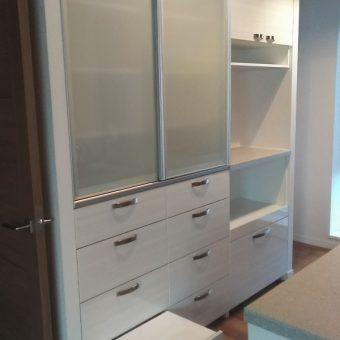 自分だけのオリジナルオーダー食器棚設置でキッチンワークもはかどります!札幌市マンション