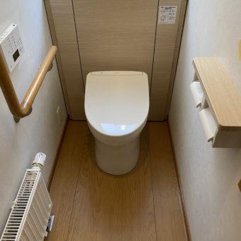 TOTO『レストパル』キャビネット付トイレですっきりと快適な空間へ!札幌市戸建