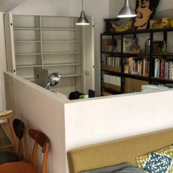 和室をL型パネルで囲った洋風書斎にリノベーション工事!札幌市マンション