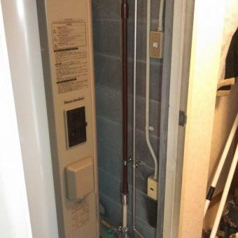 給湯専用タイプ丸型電気温水器370L交換施工事例!札幌市マンション