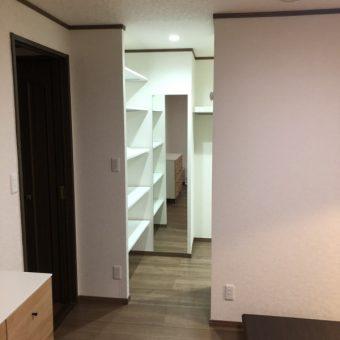 寝室にウォークインクローゼット新規設置リフォーム!札幌市戸建