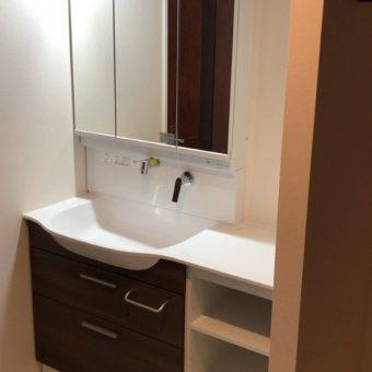 TOTO『オクターブスリム』でシンプルに使いやすい洗面空間へ!札幌市マンション