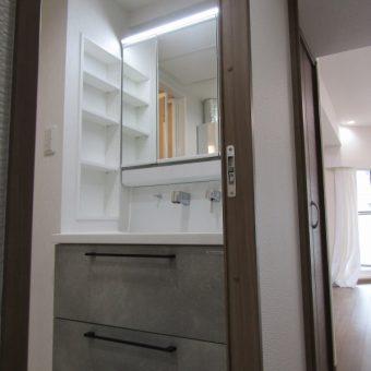 クールスタイリッシュな洗面化粧台『リフレシオ』へリフォーム!札幌市マンション