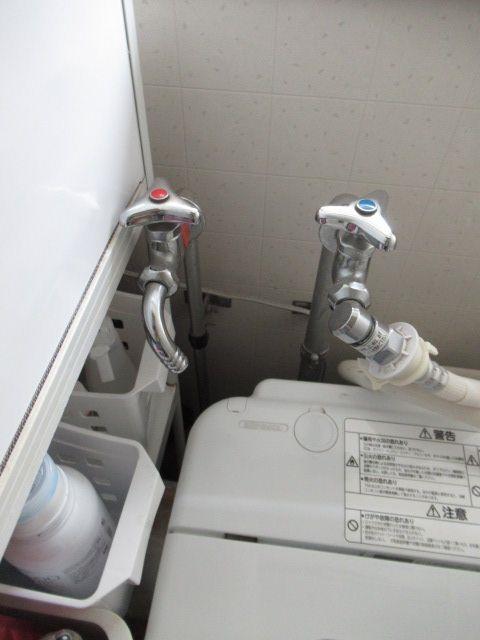 1施工前洗濯機水栓